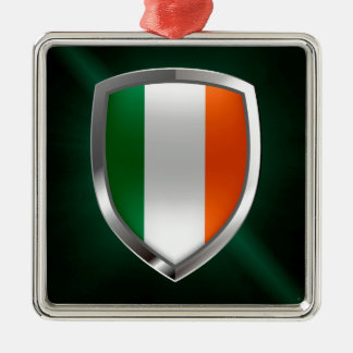 Ireland Metallic Emblem Metal Ornament