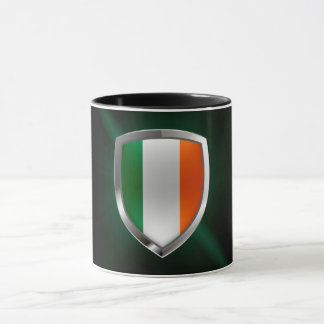 Ireland Metallic Emblem Mug