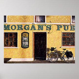 Ireland Morgan's Pub Poster Print