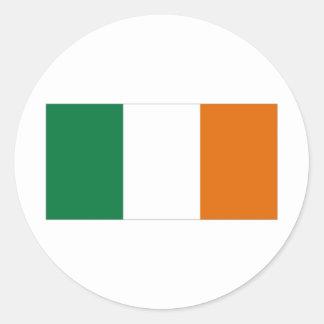 Ireland National Flag Round Stickers