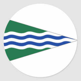 Ireland National Yacht Club Ensign Round Sticker