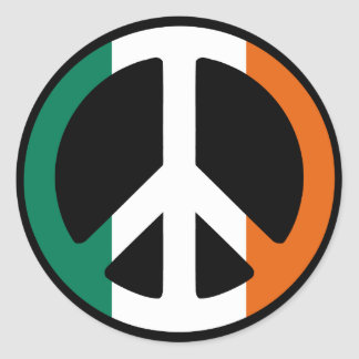 Ireland Peace Sign Round Sticker