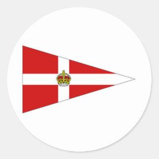 Ireland pennant round sticker