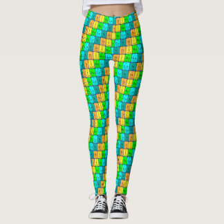 Ireland periodic table patriotic leggings 5