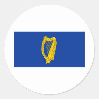 Ireland President Flag Round Sticker
