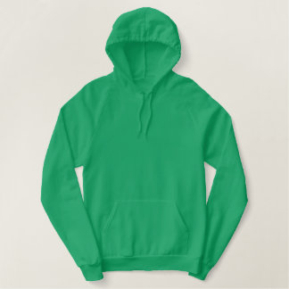 Ireland Pullover Fleece Hoodie 2 Kelly Green/White