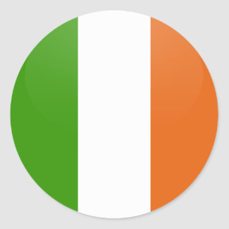 Ireland quality Flag Circle Classic Round Sticker