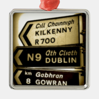 Ireland Roadside Signs Metal Ornament