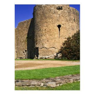 Ireland, Roscommon. View of Roscommon Castle. Postcard