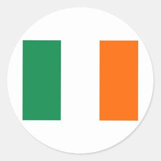 ireland round sticker