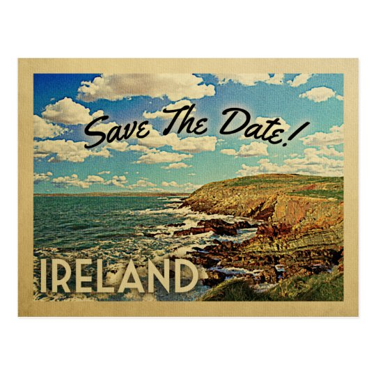 Ireland Save The Date Vintage Postcards
