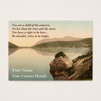 Ireland Sea Coast Motivational Desiderata Business Card