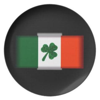 Ireland Shamrock Flag Plate
