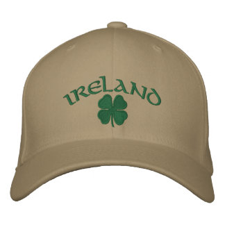 Ireland Shamrock Hat Embroidered Hat
