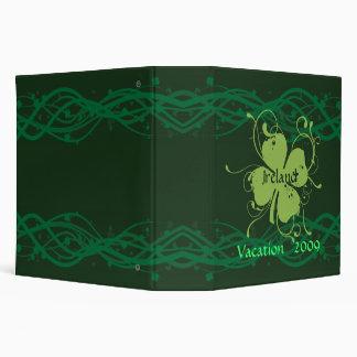 Ireland Shamrocks Binder/Notebook Binder