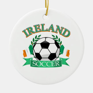 Ireland soccer ball designs ceramic ornament