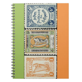 Ireland Stamp Spiral Notebook
