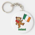 Ireland Teddy Bear Keychain