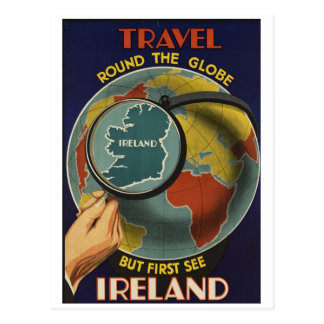 Ireland Travel Poster Postcard