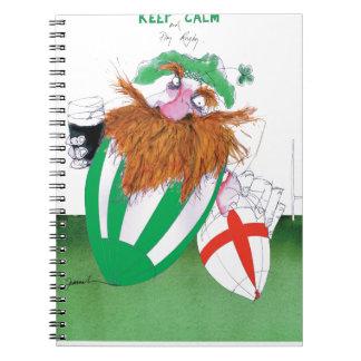 ireland v england rugby balls tony fernandes spiral notebook