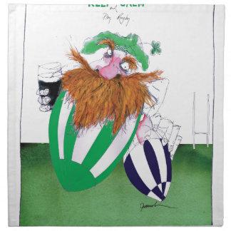 ireland v scotland rugby balls tony fernandes napkin