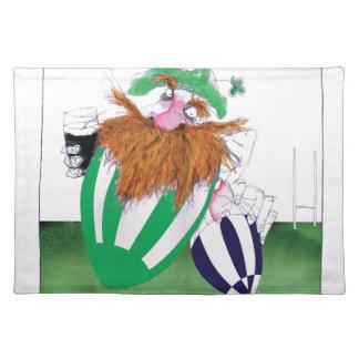 ireland v scotland rugby balls tony fernandes placemat