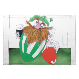 ireland v wales rugby balls tony fernandes placemat