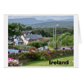 Ireland --View to Eyeries Village Card