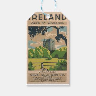 Ireland Vintage Travel Gift Tags