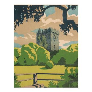 Ireland Vintage Travel Letterhead