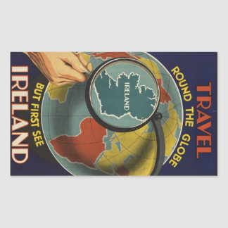 Ireland Vintage Travel Poster sticker