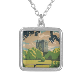 Ireland Vintage Travel Silver Plated Necklace