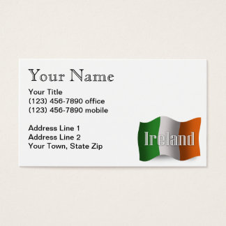 Ireland Waving Flag Business Card