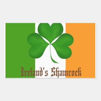 Ireland's Flag and Shamrock Gifts Sticker