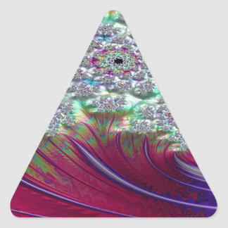Irenic Abjurer Fractal Triangle Sticker