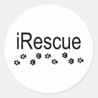 iRescue Classic Round Sticker