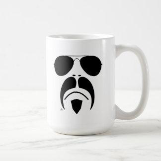 iRide Moustache Aviator Sunglasses Classic White Coffee Mug