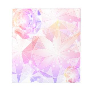Iridescence Pink Lavender Compass Rhinestone Notepad