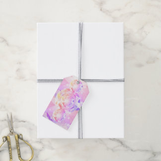 Iridescence Pink Lavender Compass Rhinestone Pack Of Gift Tags