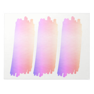 Iridescence Pink Lavender Watercolor Brush Notepad