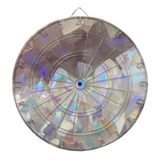 Iridescent Aura Crystals Dartboard
