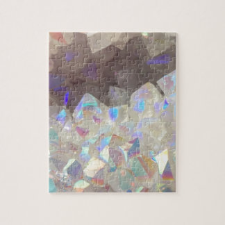 Iridescent Aura Crystals Jigsaw Puzzle