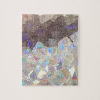 Iridescent Aura Crystals Jigsaw Puzzle