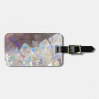 Iridescent Aura Crystals Luggage Tag
