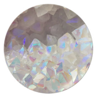 Iridescent Aura Crystals Plate