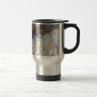 Iridescent Aura Crystals Travel Mug
