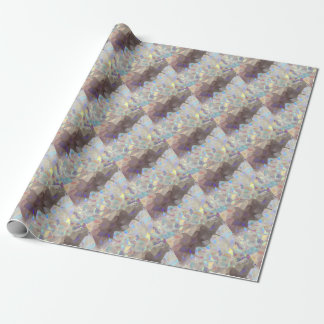 Iridescent Aura Crystals Wrapping Paper