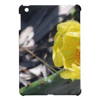 iridescent bee on nopales flower iPad mini cover
