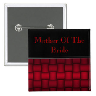 Iridescent Blocks (Red) (Wedding) 2 Inch Square Button