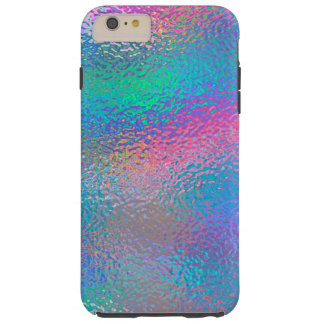 Iridescent Blue Foil Tough iPhone 6 Plus Case